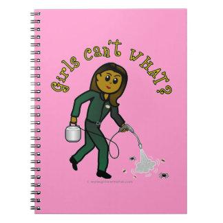 Dark Pest Control Girl Notebook