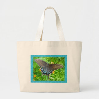 Dark Phase Tiger Swallowtail Butterfly Items Large Tote Bag