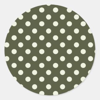 Dark Pine and White Polka Dot Sticker