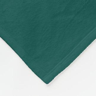 Dark Pine Green Fleece Blanket