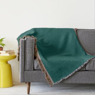 Dark Pine Green Throw Blanket