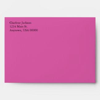 Dark Pink A7 5x7 Custom Pre-addressed Envelopes