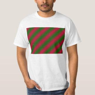 Dark Pink and Green Sideway Lines T-Shirt