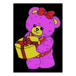 Dark Pink and Yellow Teddy Bear for Girls(2) Business Card