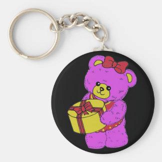 Dark Pink and Yellow Teddy Bear for Girls(2) Keychain