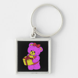 Dark Pink and Yellow Teddy Bear for Girls(2) Keychains