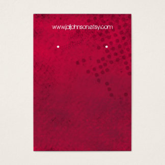 Dark Pink Background Earring Cards
