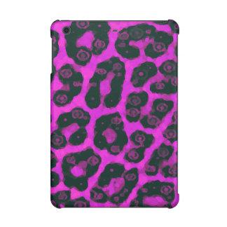 Dark Pink Black Painted Cheetah iPad Mini Retina Cases