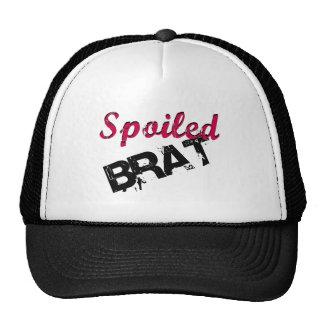 Dark Pink & Black Spoiled Brat Design Trucker Hat