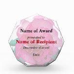 Dark Pink Camellia Dazzler Acrylic Award