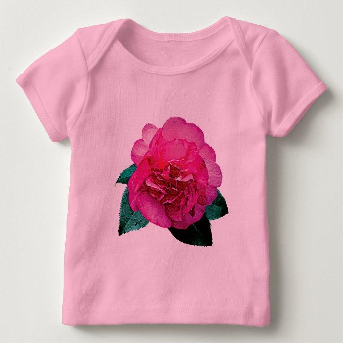 Dark Pink Camellia Dazzler Baby T-Shirt