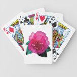 Dark Pink Camellia Dazzler Deck Of Cards