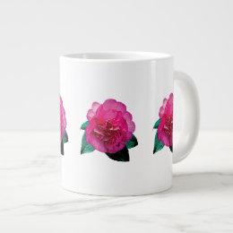 Dark Pink Camellia Dazzler Giant Coffee Mug
