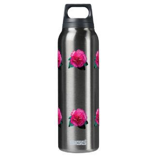 Dark Pink Camellia Dazzler 16 Oz Insulated SIGG Thermos Water Bottle