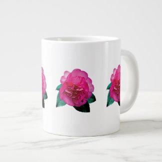 Dark Pink Camellia Dazzler 20 Oz Large Ceramic Coffee Mug