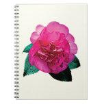 Dark Pink Camellia Dazzler Spiral Note Books