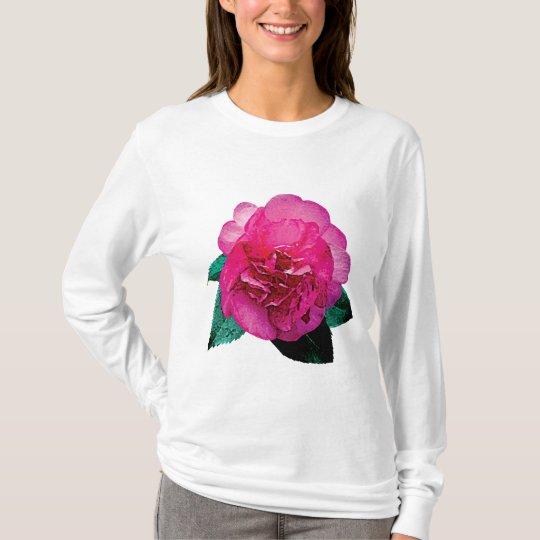 Dark Pink Camellia Dazzler T-Shirt