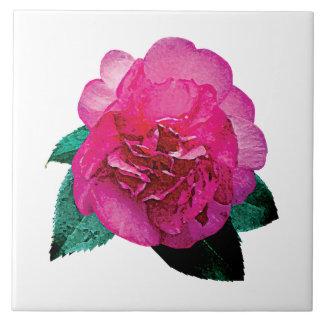Dark Pink Camellia Dazzler Tile
