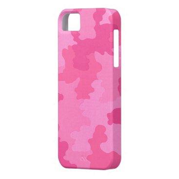 Dark Pink Camouflage iPhone 5G Case