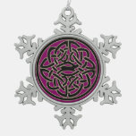 Dark Pink Celtic Fractal Design Ornament