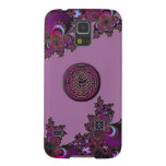 Dark Pink Celtic Fractal Samsung Galaxy S5 Case