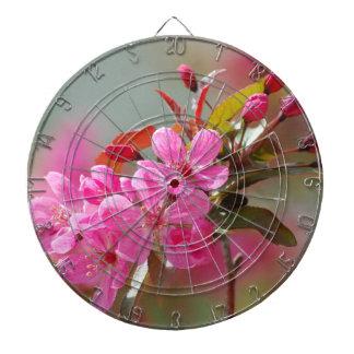 Dark Pink Cherry Blossoms Dart Boards