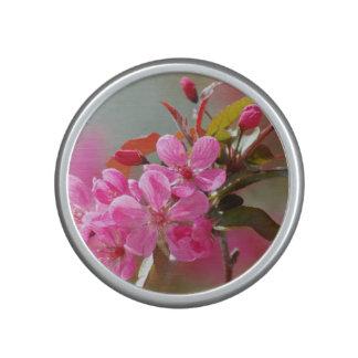 Dark Pink Cherry Blossoms Bluetooth Speaker