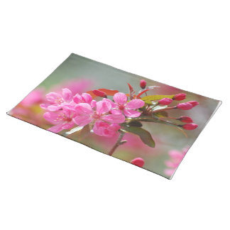Dark Pink Cherry Blossoms Placemats