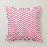 Dark Pink Chevron Throw Pillow