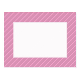 Dark Pink Diagonal Stripes. Pattern. Postcard