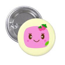 dark pink dumpling strawberry pin