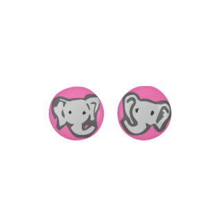 Dark Pink Elephant Earrings