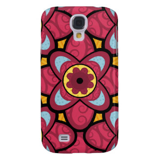Dark Pink Flower Pattern iPhone 3G Cover Samsung Galaxy S4 Cover