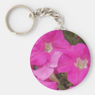 Dark Pink Flowers Keychain