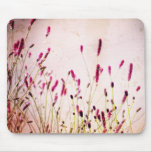 Dark Pink Garden Wildflowers Mouse Pad