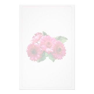 Dark Pink Gerbera Daisies Stationery Paper