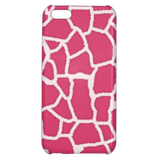 Dark Pink Giraffe Animal Print iPhone 5C Cover