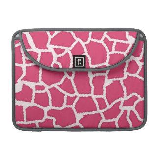 Dark Pink Giraffe Animal Print Sleeve For MacBooks