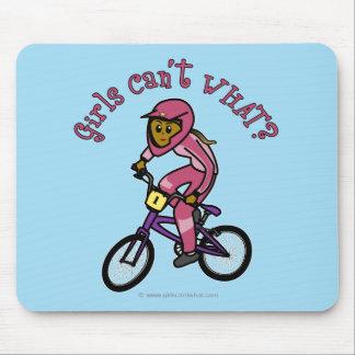 Dark Pink Girls BMX Mouse Pad