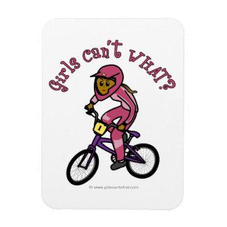 Dark Pink Girls BMX Vinyl Magnet