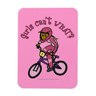 Dark Pink Girls BMX Magnets