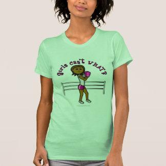 Dark Pink Girls Boxing T-Shirt