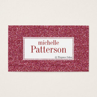 Dark Pink Glitter Appointment Business Cards