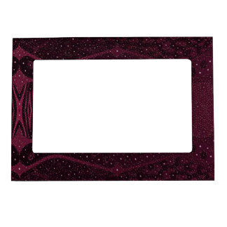 Dark Pink Glitter Zebra Abstract Magnetic Picture Frame
