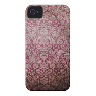 Dark pink grunge damask wallpaper Case-Mate iPhone 4 cases