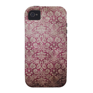Dark pink grunge damask wallpaper iPhone 4/4S cover