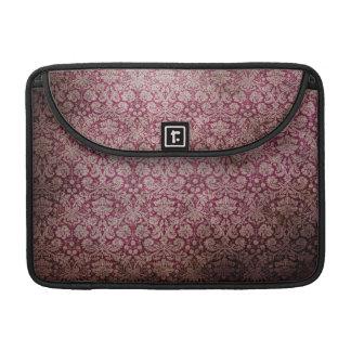 Dark pink grunge damask wallpaper sleeve for MacBook pro