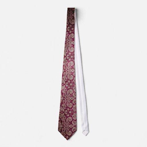 Dark pink grunge damask wallpaper tie