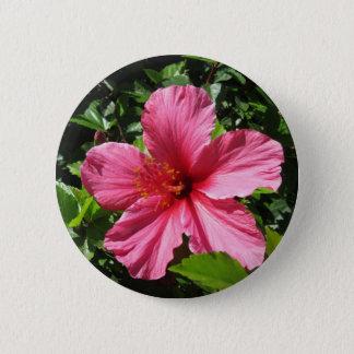 Dark Pink Hibiscus Button