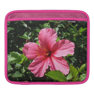 Dark Pink Hibiscus Horitzontal iPad Sleeve